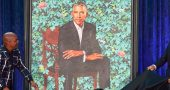 Kehinde Wiley unveils Obama's Smithsonian National Portrait at the White house -The Native