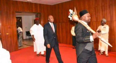 Someone stole the Nigerian Senate's ceremonial gold stick - The Native