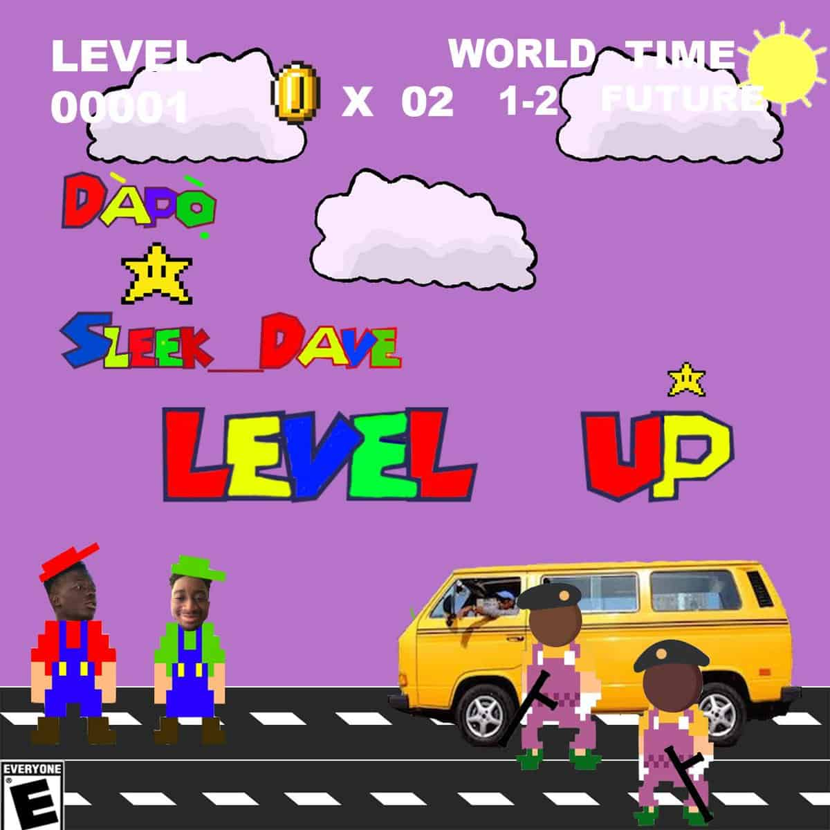 Dapo and Sleek Dave mix afrotrap and Mario on 'Level Up'