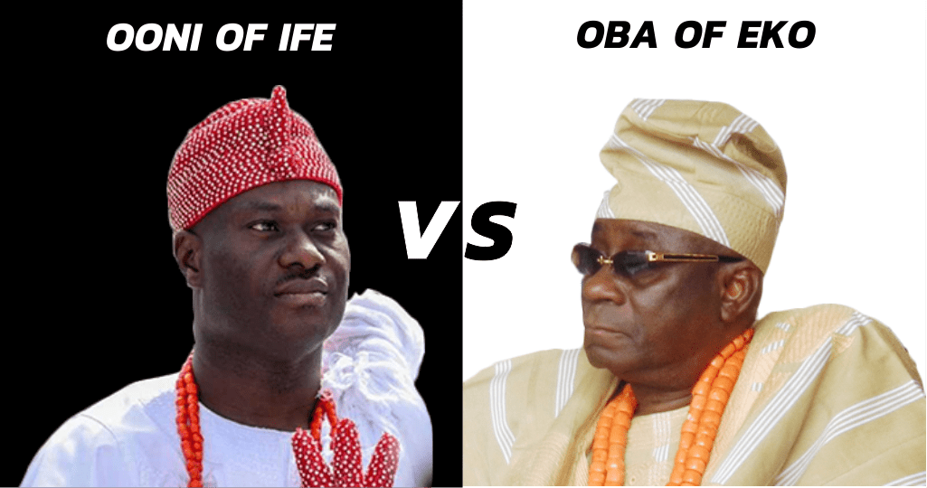 The Oba of Eko Pulled A  Wizkid on The Ooni of Ife and the Internet is raving