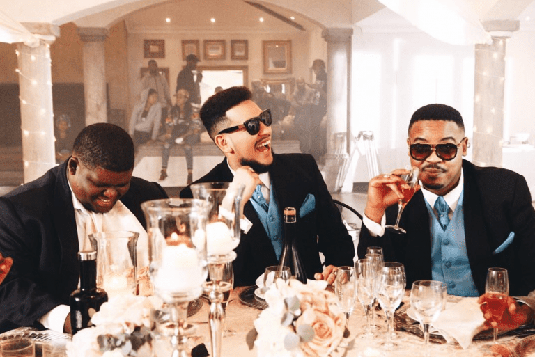 """A possible wedding between Matheba and Forbes? Watch AKA's music video for """"Caiphus Song"""""""