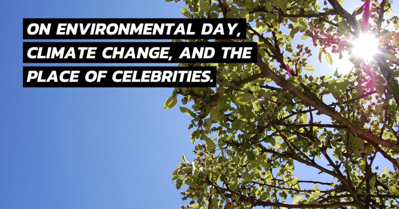 On Environmental Day, Climate Change, and the place of Celebrities - The Native