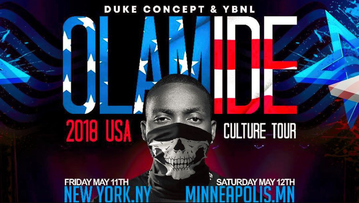 Olamide set for United States tour, this May - The Native