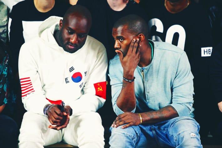 Kanye West reunites with Virgil Abloh at the Ghanaian designer's Louis Vuitton runway Debut