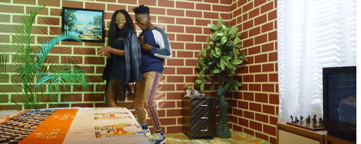 "See Efya and Mr Eazi in the video for ""Maame"""