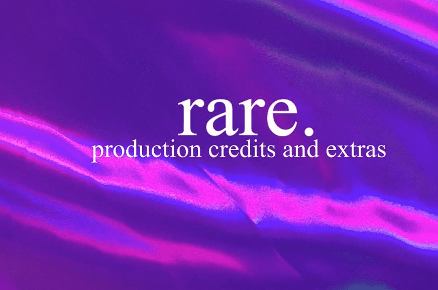 "Here are the full album credits for Odunsi's ""rare."""