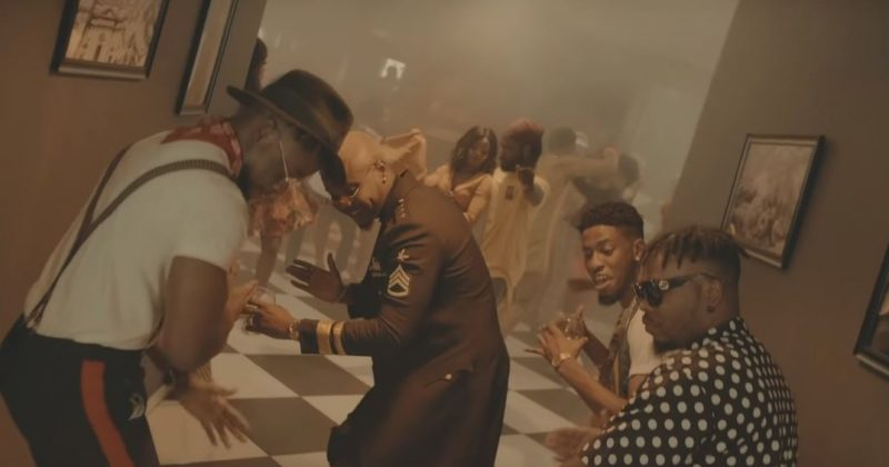 "It's a Caribbean house party in DJ Enimoney's ""Send Her Money"" music video featuring Olamide, Lk Kuddy, Kizz Daniel and Kranium - The Native"
