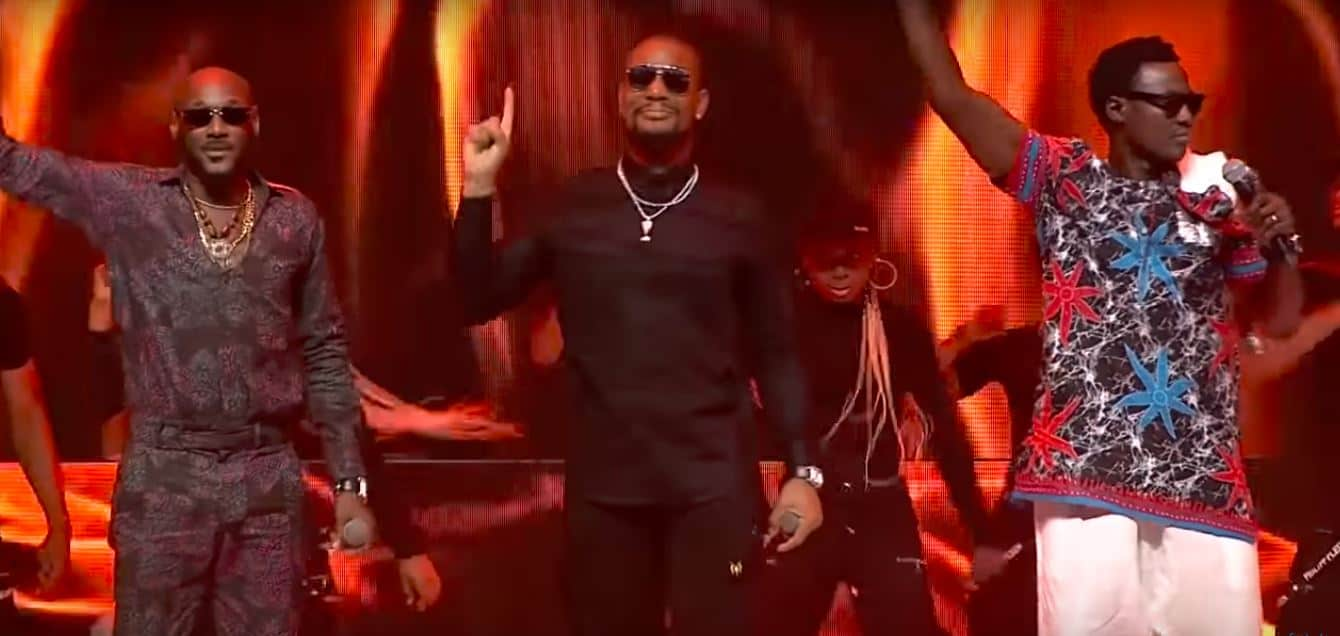 "2Baba updates his timeless classic, featuring Sound Sultan and Alex Ekubo on ""4 Instance Again"""
