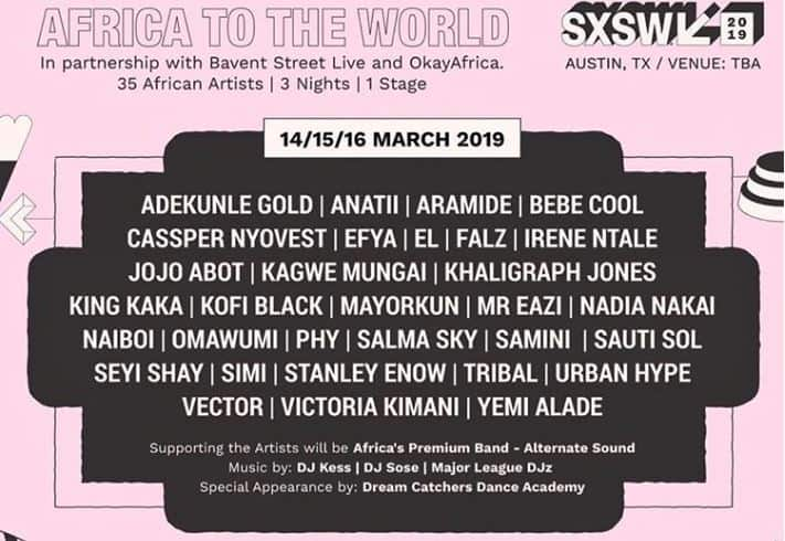 """SXSW announces a 3-day stage, """"Africa To The World"""", for SXWS 2019"""