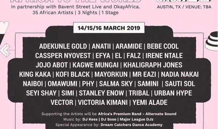 "SXSW announce a 3-day stage, ""Africa To The World"", for SXWS 2019 - The Native"