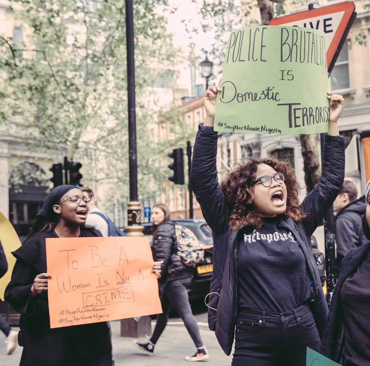 From the protest grounds in London: #AbujaRaidOnWomen, a photo story by Emily Nkanga