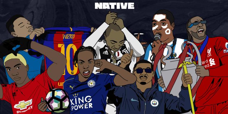 20 Nigerian artists as football stars
