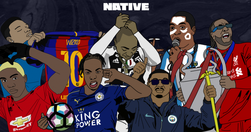 20 Nigerian artists as football stars