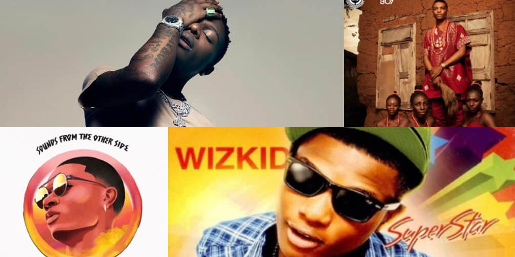 A look back at Wizkid's album cover arts from his debut, 'Superstar' to 'Made In Lagos'