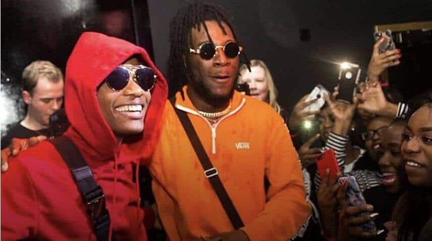 "Wizkid & Burna Boy's ""Ginger"" makes history as the first No. 1 song on TurnTable Top 50 chart"