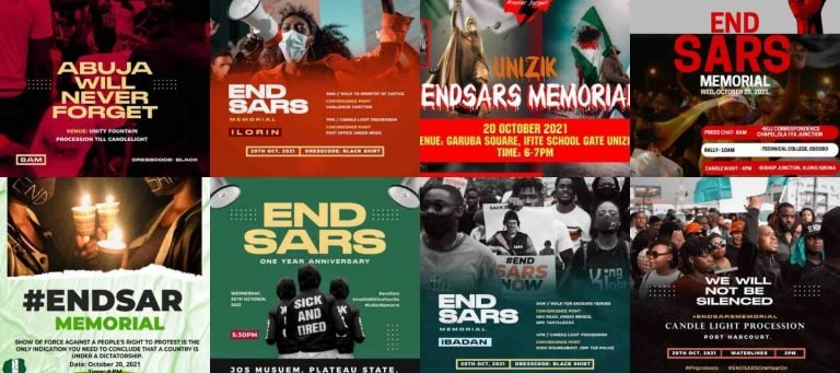 How the #EndSARSMemorial is being marked across Nigeria
