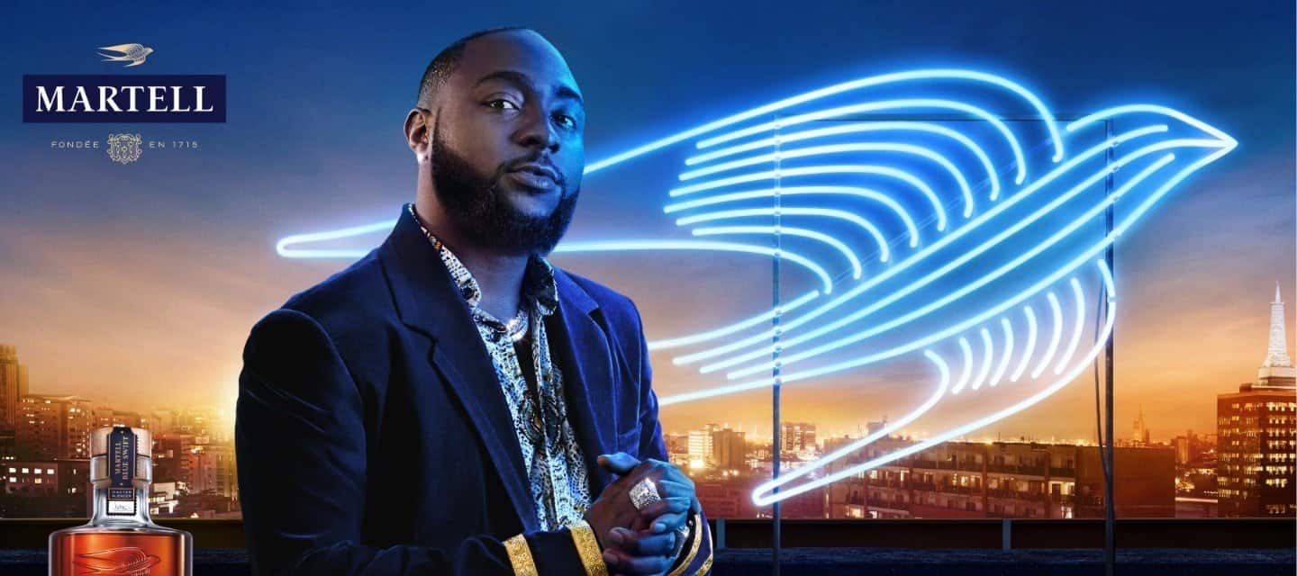 Martell Collaborates With Davido For New 'Be The Standout Swift' Campaign